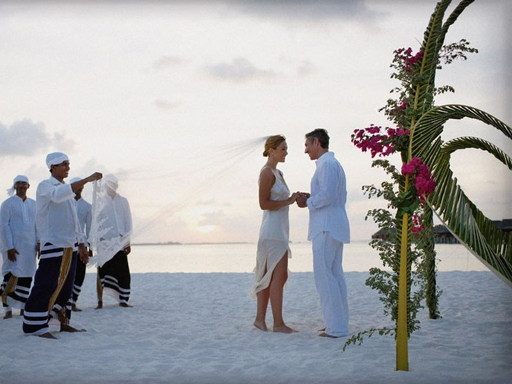 Beach blessing at LUX* Maldives - note that no weddings are allowed by law in the Maldives