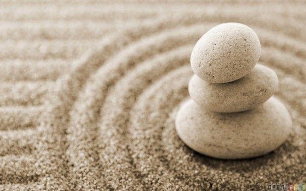 White Stone on the sand
