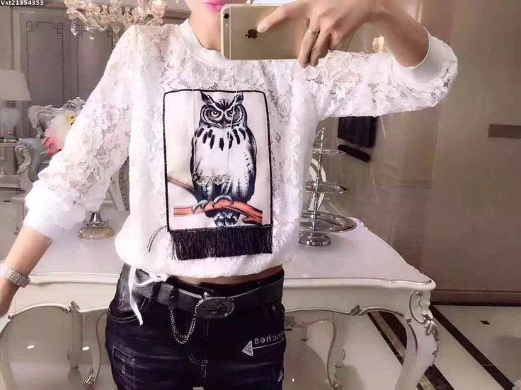 New Lace Classic Style Owl Design Blouse Shirt White 8961-in Blouses & Shirts from Women's Clothing & Accessories on Aliexpress.com | Alibaba Group