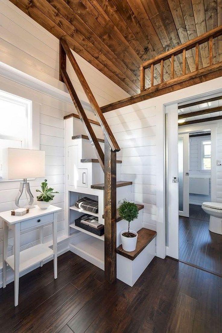 Cool 60 Amazing Loft Stair for Tiny House Ideas https://decorapartment.com/60-amazing-loft-stair-tiny-house-ideas/