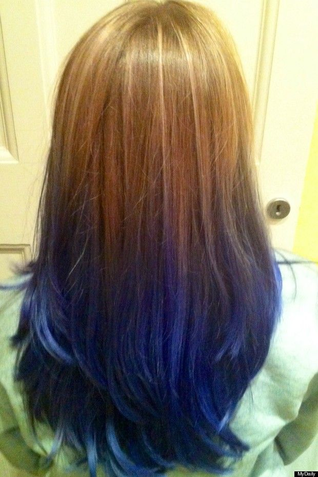 Gallery For > Underneath Hair Dyed Blue