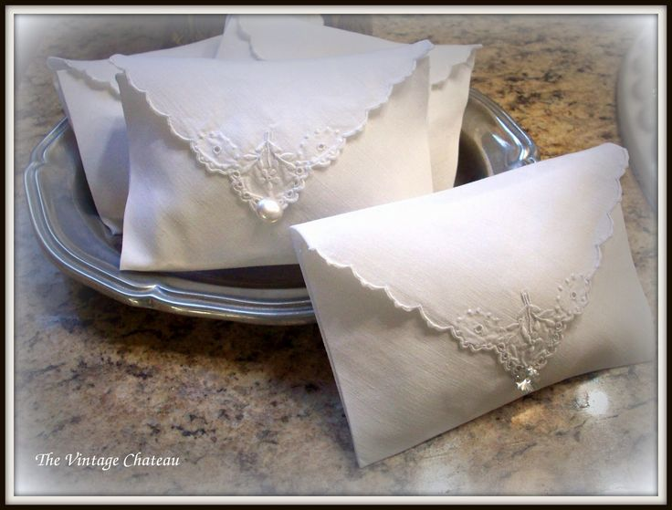 I've been making these sachets for a couple of years now. Not too many ladies use pretty hankies any more, preferring the cleanliness of a...