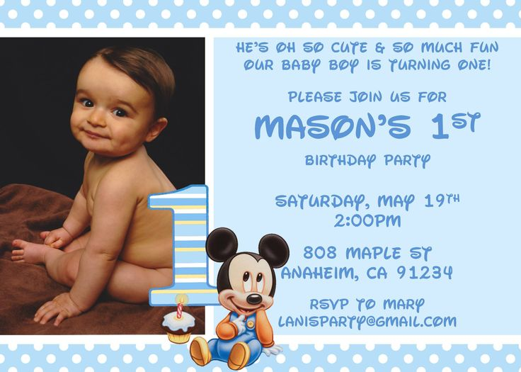 45 best Baby Mickey images – Baby Mickey Invitations Birthday