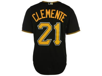 Pittsburgh Pirates Roberto Clemente Majestic MLB Men s Cooperstown Player  Replica CB Jersey 17418cf00