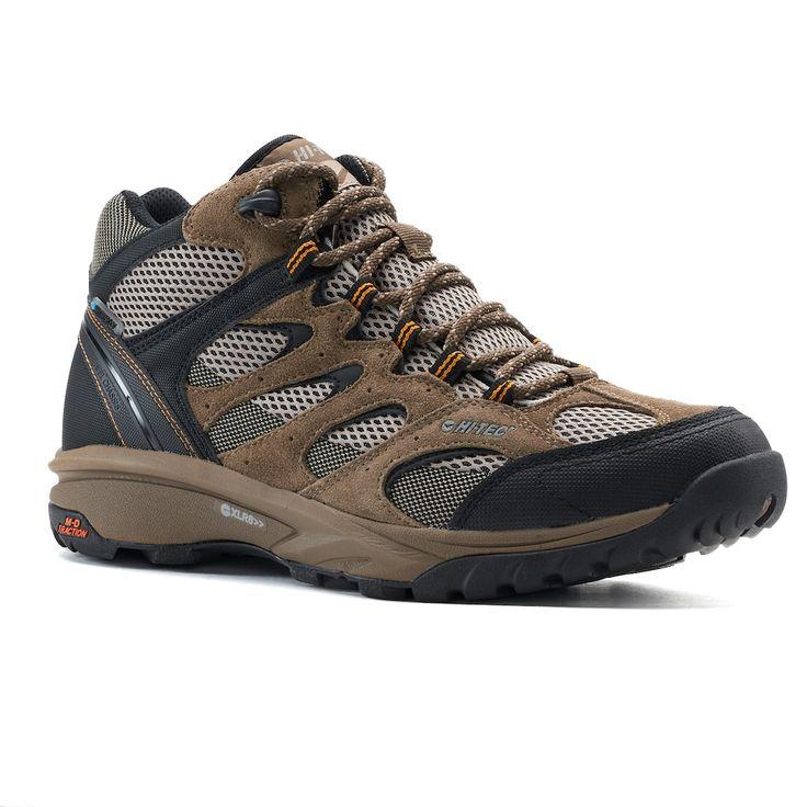 Hi-Tec Trail Blazer Mid Men's Waterproof Hiking Boots, Lt Beige