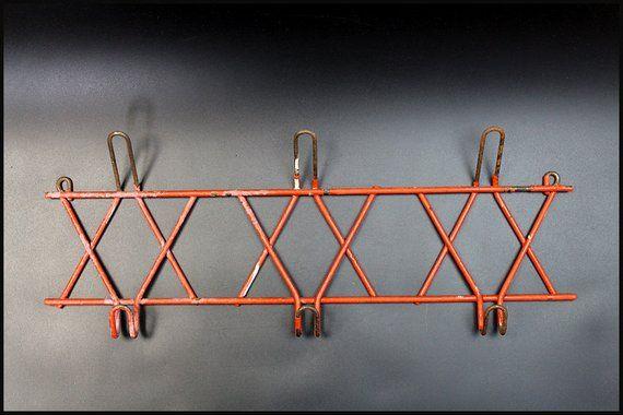 Image 0 Wooden Coat Rack Metal Hangers Wall Hanger