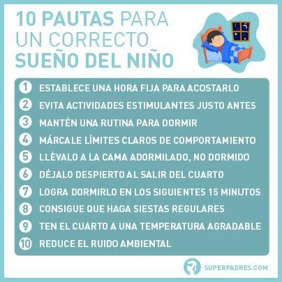 Los 10 buenos hábitos del sueño, pautas para el sueño en los niños #descanso #bienestar #infantil