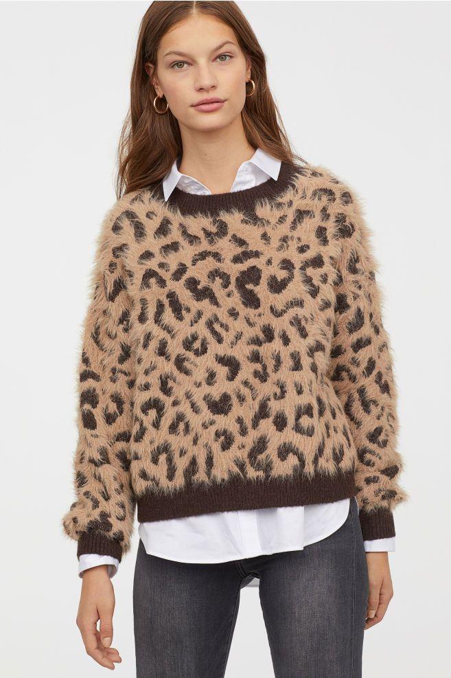 eab2846ae2 Pattern-knit Sweater in 2019   fashion   Sweaters, Beige sweater ...