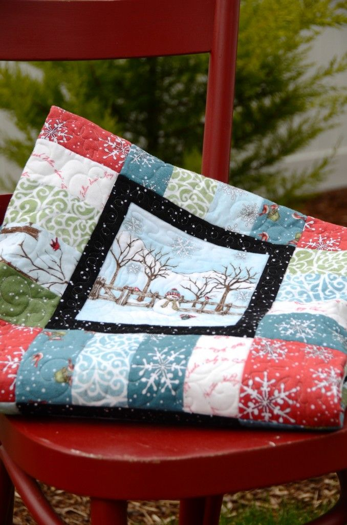 63 best Using Panels for Quick Quilts images on Pinterest ... : cushion panels to quilt - Adamdwight.com