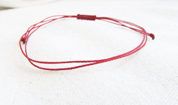 Men's Red String Bracelet Red Thread Kabbalah by LittleString, $2.00