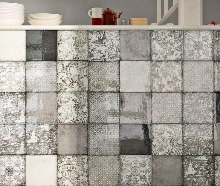 Splash-back alternative - Craquelle Glazed Tile