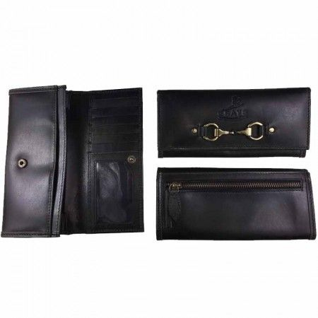 """Lily"" Purse Black Leather - £38.50"