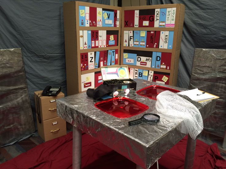 Vbs evidence room idea vbs 2014 agency d3 pinterest for Decor agency