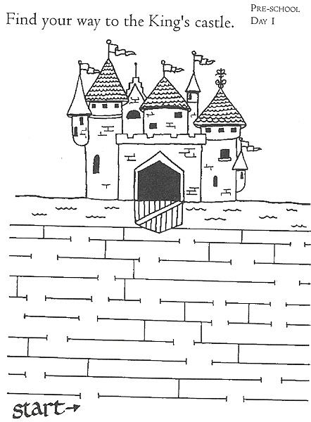 vind de weg naar het kasteel van de Koning