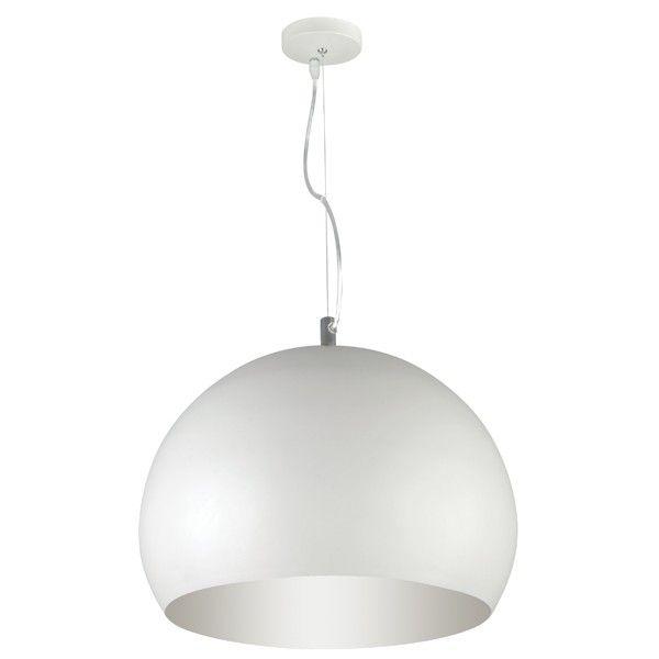 Inside 1 Light Pendant in White - $75