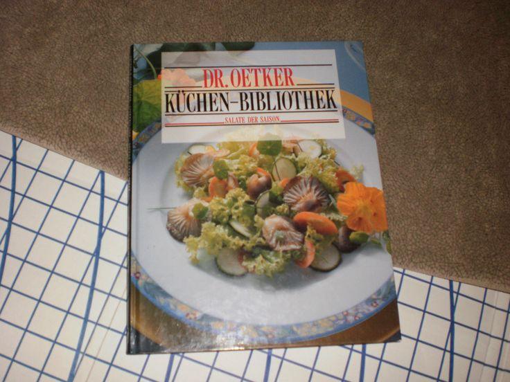 RARE German Cookbook Dr. Oetker Kuchen Bibliothek Salate der Saison IN GERMAN!