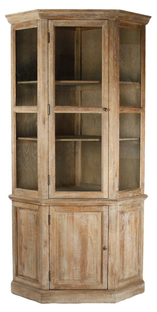 One Kings Lane   Francophile Style   Fairway Corner Cabinet