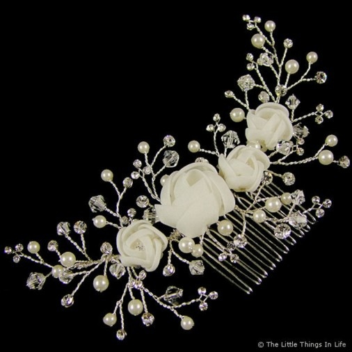 Cecilia Wedding Hair Comb 14cm (Silver) - Photo 1