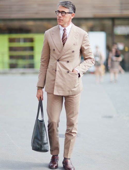 DB Khaki Suit for Spring and Summer.