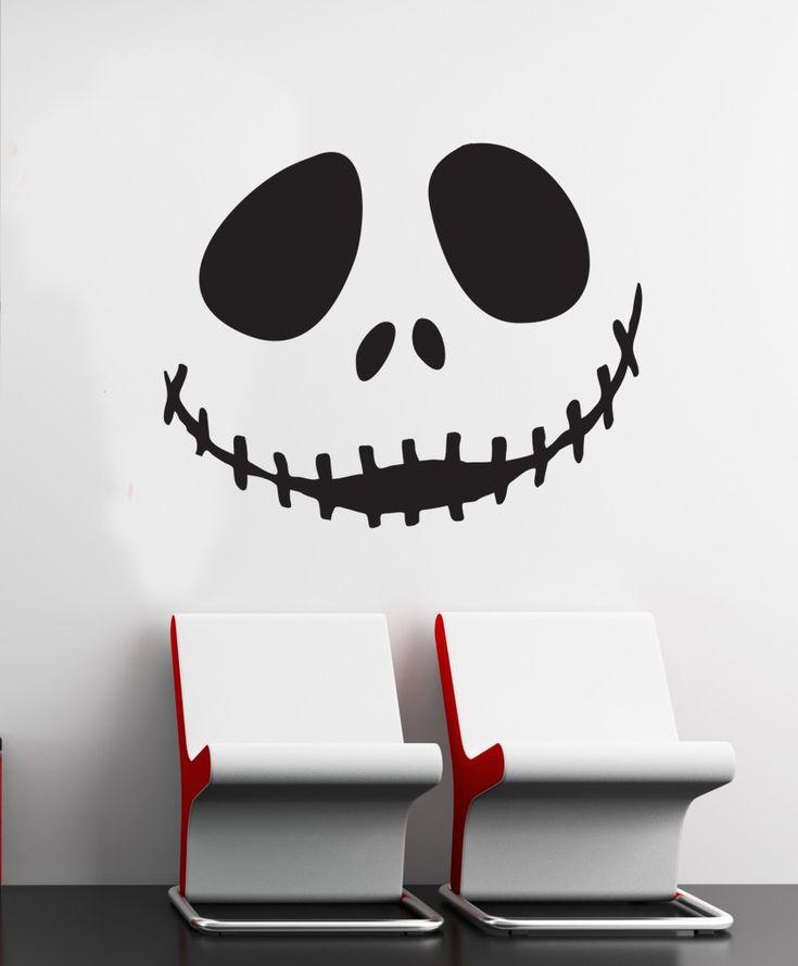Wall Art Sticker Decal Vinyl 0114 Jack Skellington, Nightmare Before  Christmas Idea