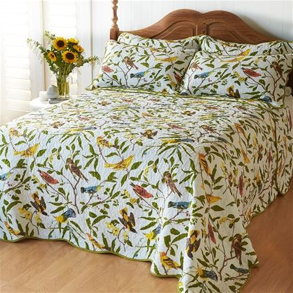 Beautiful bedding for bird lovers - you can almost hear the song!