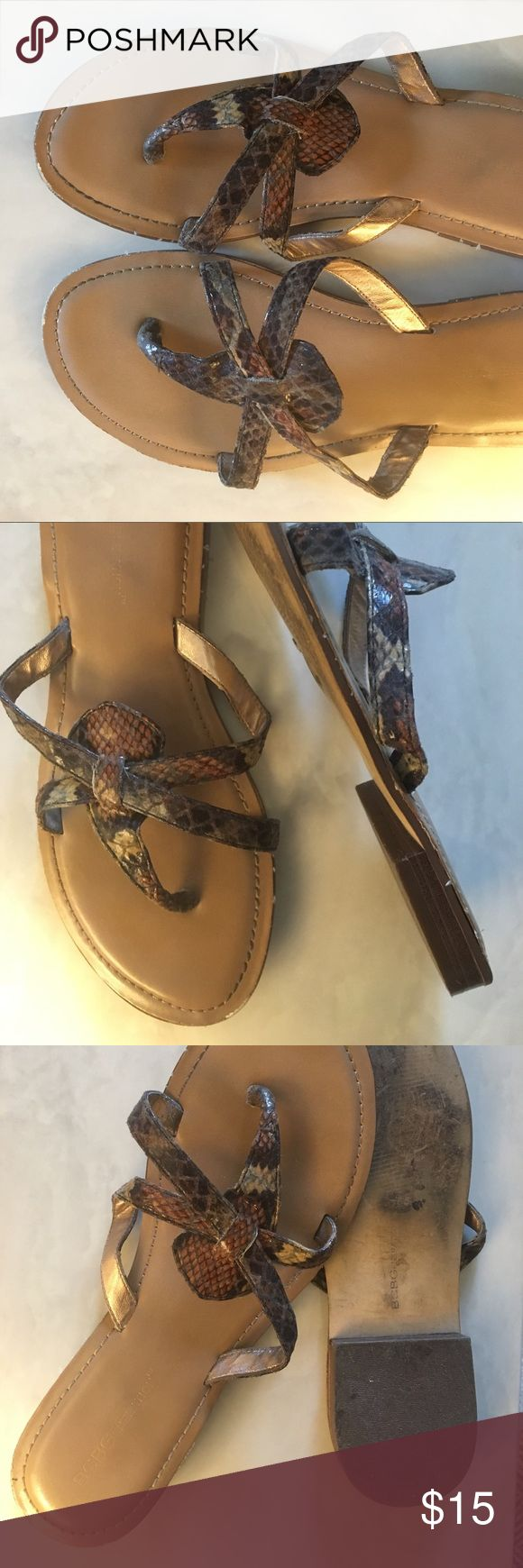 Neutral Sandals | BCBG | size 7 BCBGeneration 'Buffie' sandals. Very good used condition. Great neutral sandal to go with all your casual summer outfits. Size 7. BCBG Shoes Sandals