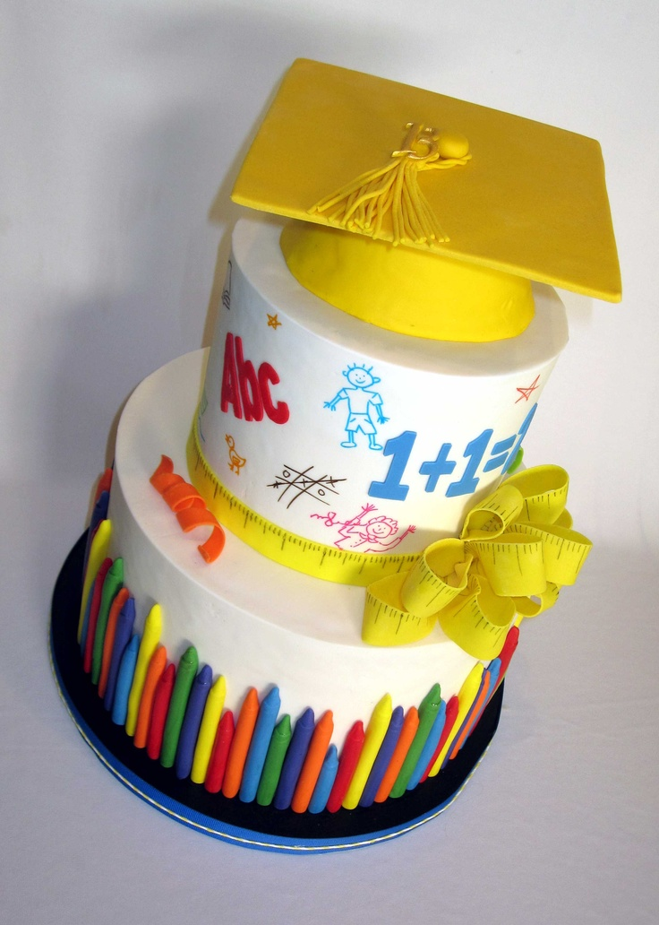 Kindergarden Graduation cake @Crystal Chou Messenger thought you would love this cake