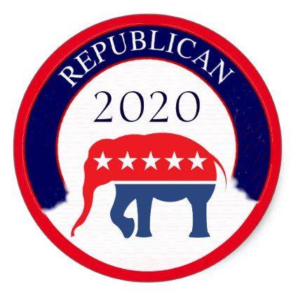 Republican Party 2020 Classic Round Sticker - diy cyo personalize design idea new special custom