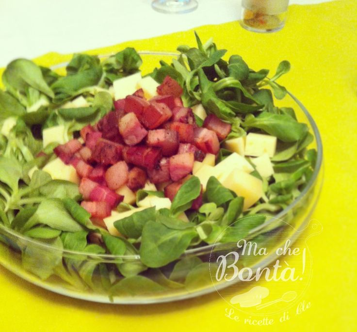 Insalata di noci e pancetta (Walnut and bacon salad) - ITA-ENG easy and fast recipe