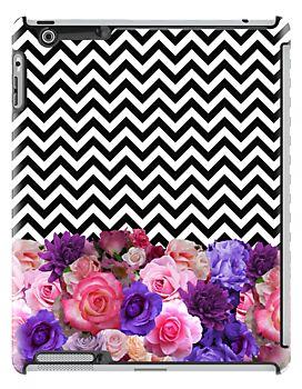 Floral Chevron iPad Case - Available Here: http://www.redbubble.com/people/rapplatt/works/12358419-floral-chevron?p=ipad-case