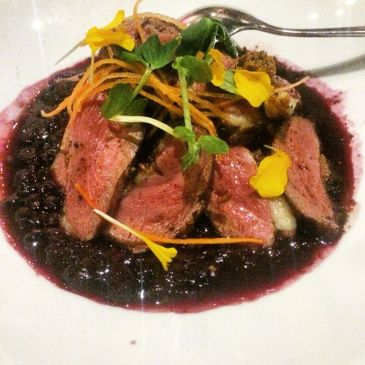Garam masala duck breast with blueberry chilli-lime curry from Pukka, Toronto