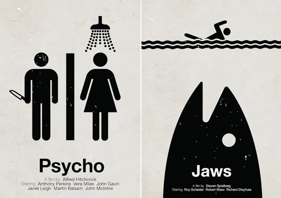 Pictogram Movie Posters   Cool Material
