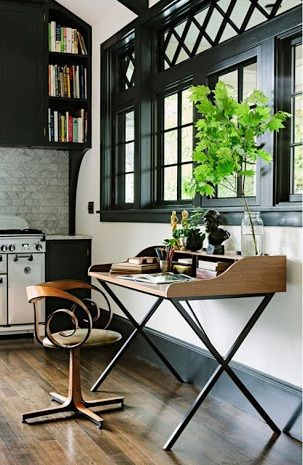 Love love love this chair and the small work station right.