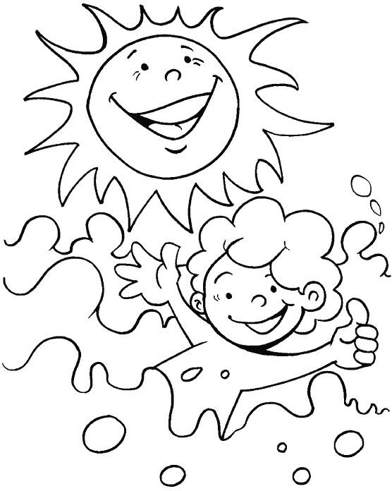 A bright sunny day coloring page Summer coloring sheets