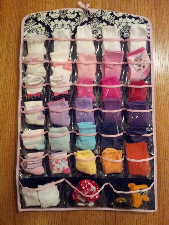 I need ideas to organize baby socks....mine just always end up mixed together in the top drawer.