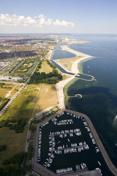 Amager Strand from the air - CALBO.DK