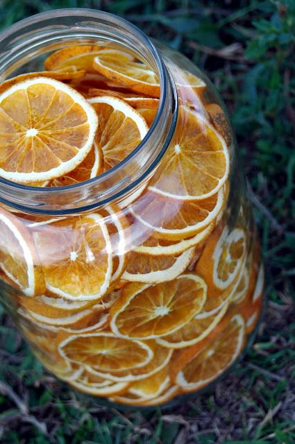Crispy Orange Chips this could be done with lemons and limes too! An easy way to spice up a cup of green tea and they are pretty decor for your kitchen all year round!