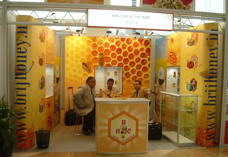 Portable Exhibition Stand for BrijHoney. Get a free design http://www.expodisplayservice.ae/FreeDesign.aspx