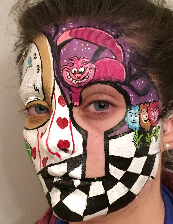 Alice in wonderland face painting   Colourful faces   Pinterest