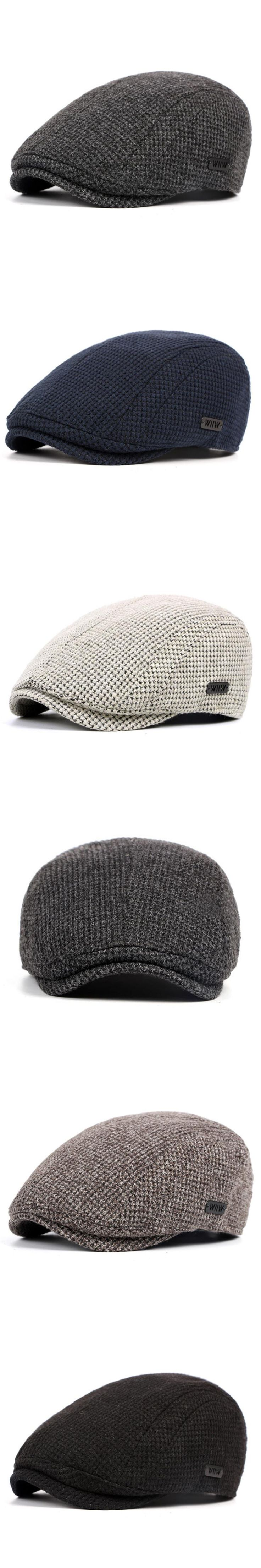 Cotton Knitted Retro Berets Hats For Men 2017 Autumn Adjustable Causal Newsboy Cap Hip Hop Male Golf Flat Hat Boinas Hombre