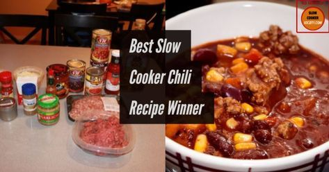 Best Slow Cooker Chili Recipe Winner... This Chili Recipe is truly an award winning chili recipe because it has won the 1st place two years in a row... READ MORE...