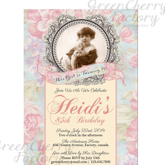 33 best nana's 100th birthday party images on pinterest | marriage, Birthday invitations