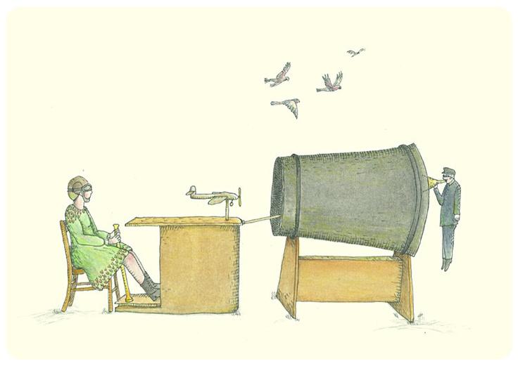 Handmade greeting card - 'Seating for rehearsed aeronautics' - C010. $6.00, via Etsy.