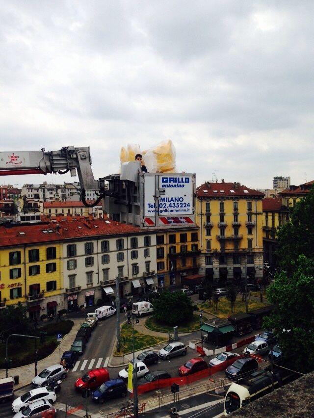 Cracking Art - Work in progress @ Corso Venezia, Milano...
