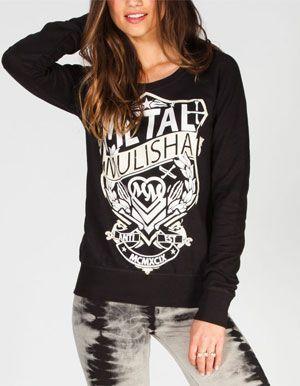 METAL MULISHA Player Womens Sweatshirt #rebelstyle
