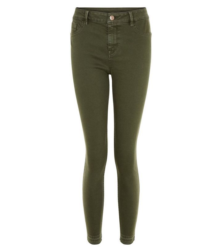 Jean skinny kaki longueur cheville | New Look