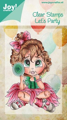 Clear Stamp - Party - Meisje met lolly