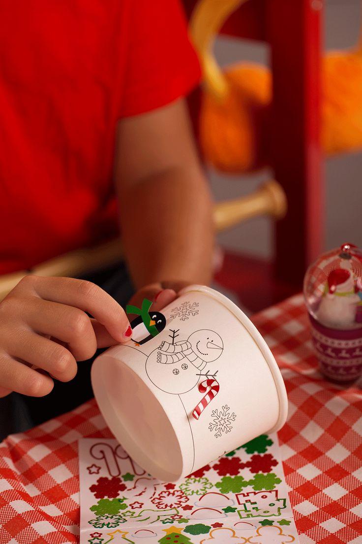 I BICCHIERI STACCA-ATTACCA: è troppo divertente decorare le coppette con gli stickers