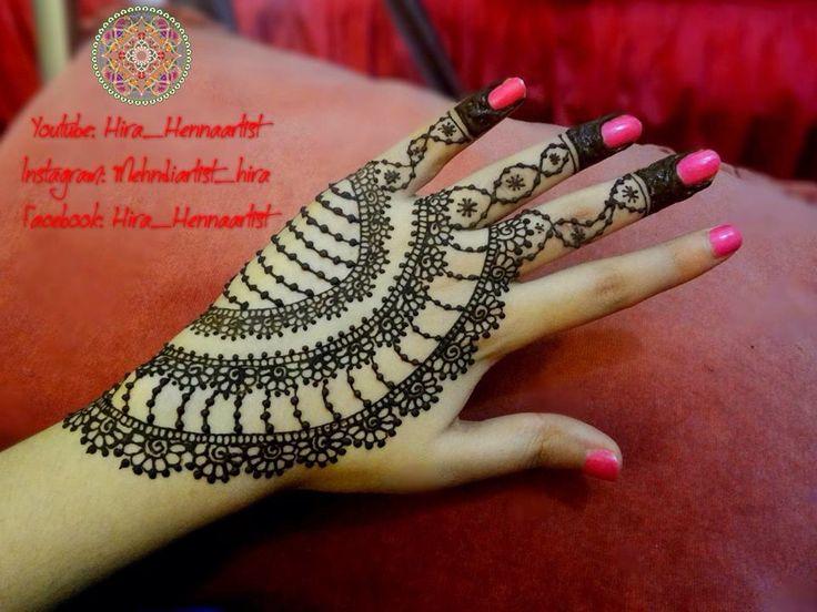 Modern Mehndi Party : Beautiful party henna mehndi design by