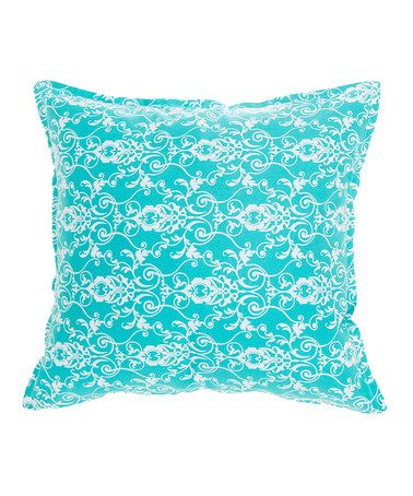 This Aqua Floral Pillow by Anna's Fabulous Things is perfect! #zulilyfinds